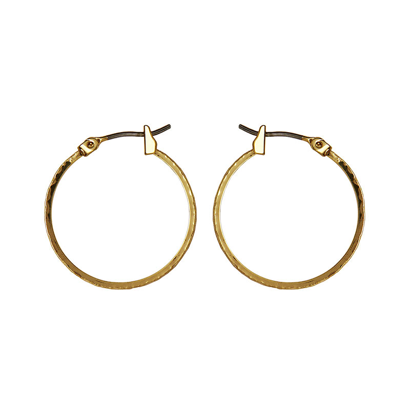 Anne Klein Small Leaf Hoop Earrings - Gold