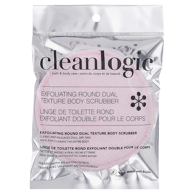 Cleanlogic Bath & Body Care Exfoliating Round Body Scrubber - Assorted