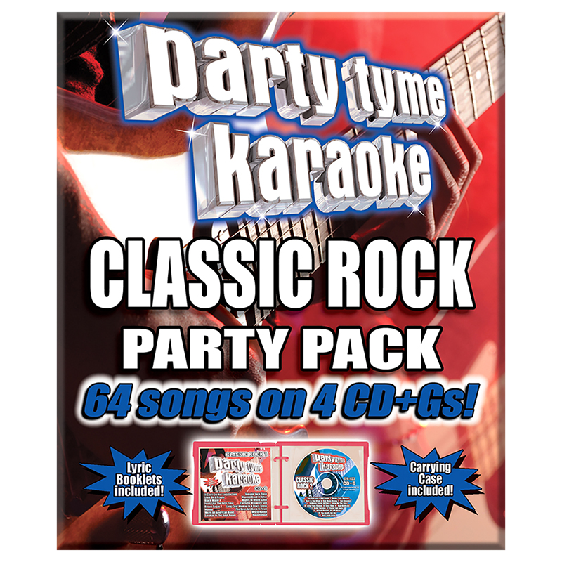 Party Tyme Karaoke - Classic Rock Party Pack - 4 CD