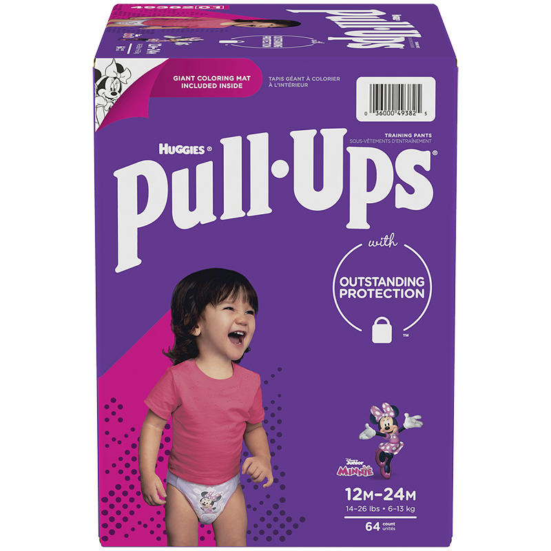 Huggies Pull-Ups Training Pants - Girls - Size 12M-24M - 64's