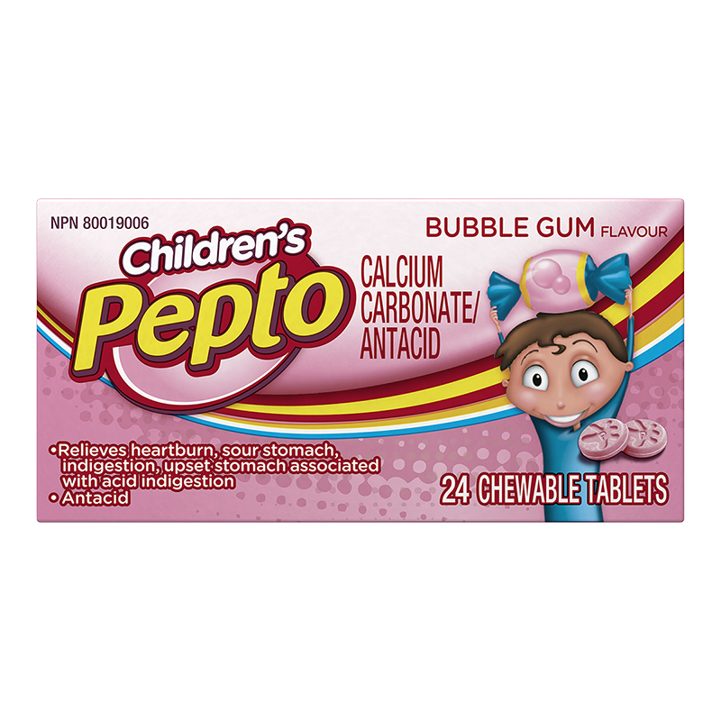 Pepto Children's Chewable Tablets - Bubble Gum - 24's