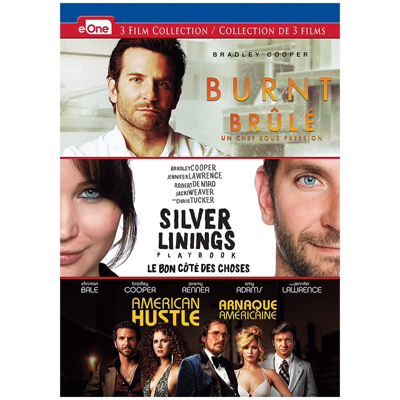 Burnt/Silver Linings Playbook/American Hustle - DVD