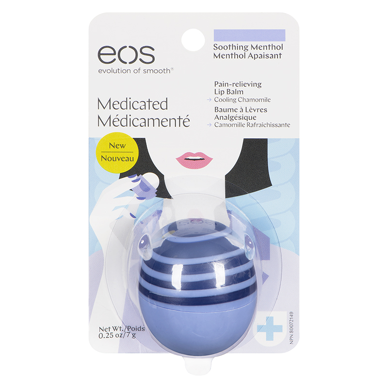 eos Medicated Lip Balm - Soothing Menthol - 7g