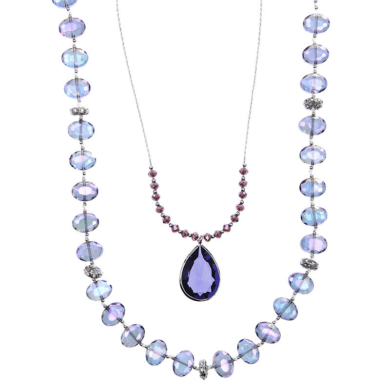 Lonna & Lilly Pendant Multi Layered Necklace - Purple