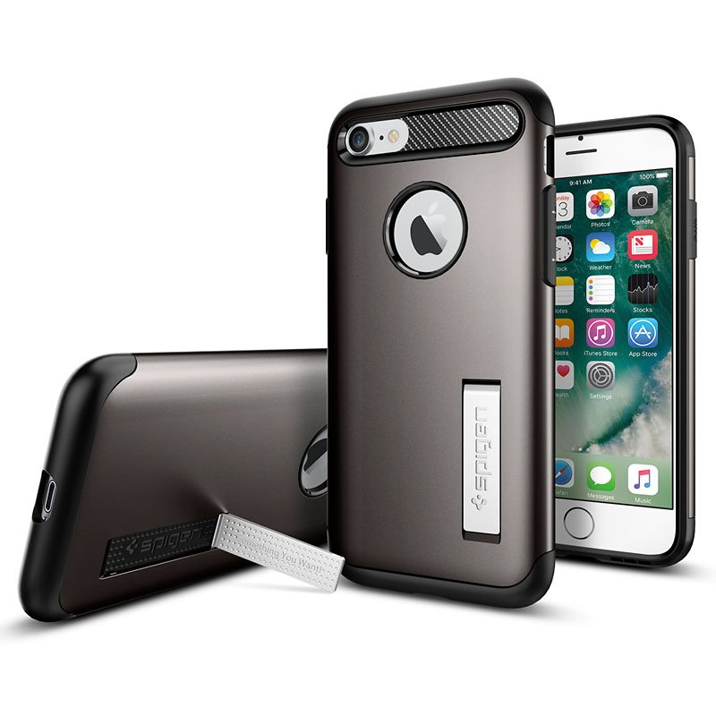 Spigen Slim Armor for iPhone 7 - Gunmetal - SGP042CS20301