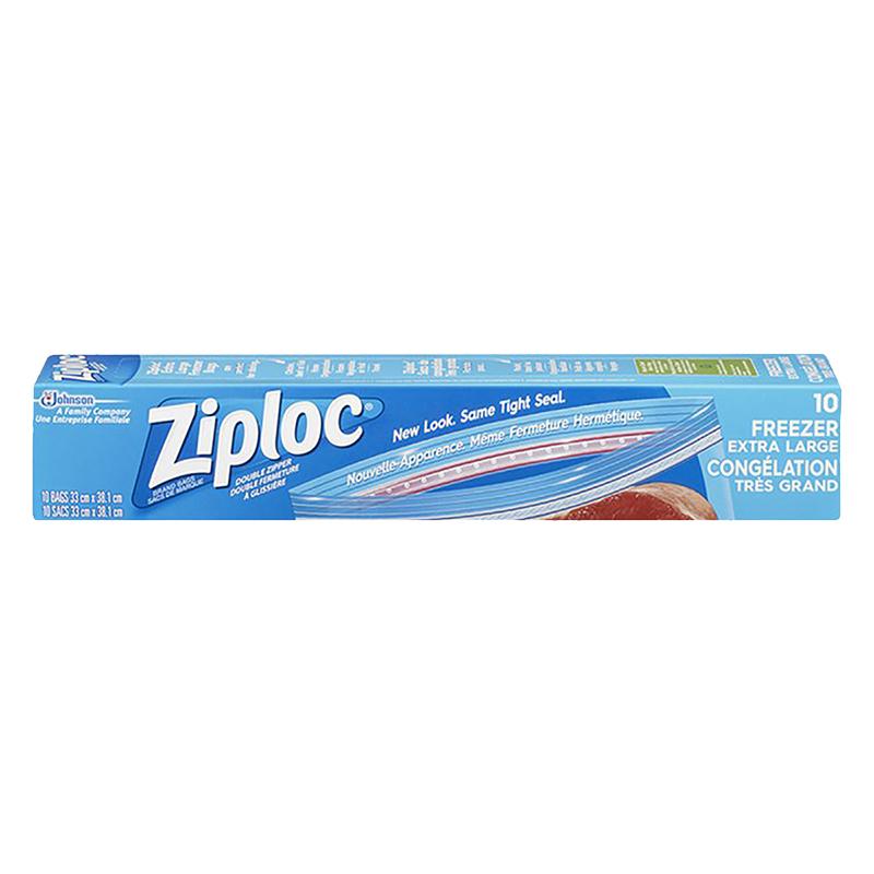Ziploc Freezer Bags Extra Large 10 S