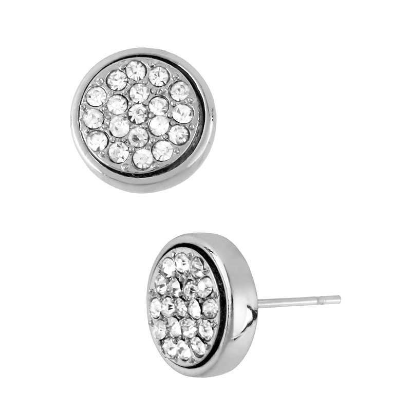 Kenneth Cole Pave Crystal Earrings - Silver