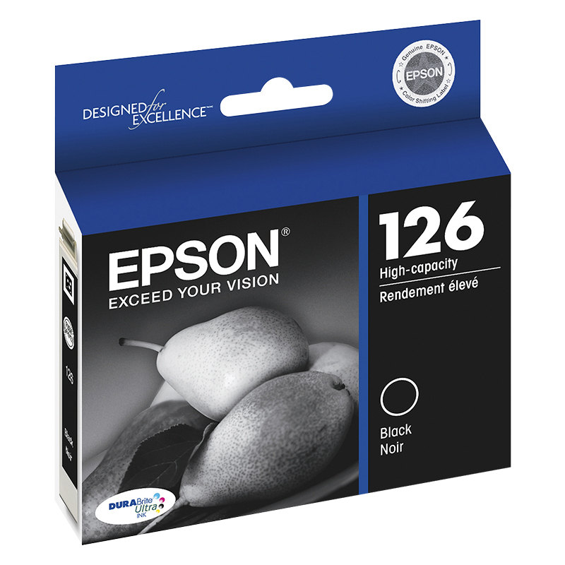 Epson 126 Durabrite Ultra High-Capacity Ink Cartridge - Black - T126120-S