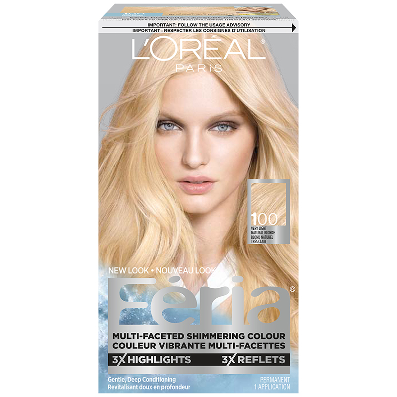 Loreal Feria Hair Colour 100 Very Light Natural Blonde London Drugs