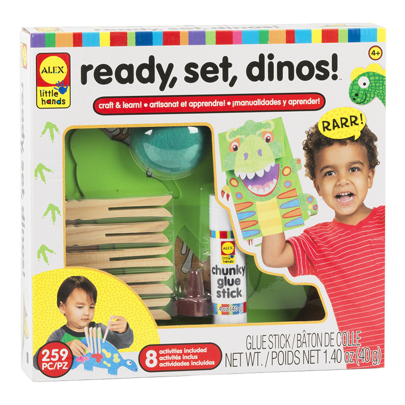 Alex Little Hands Ready, Set, Dinos! - 259 Pieces