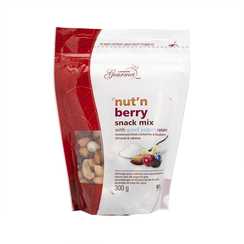 London Gourmet Snack Mix with Greek Yogurt - Nut'N Berry - 300g