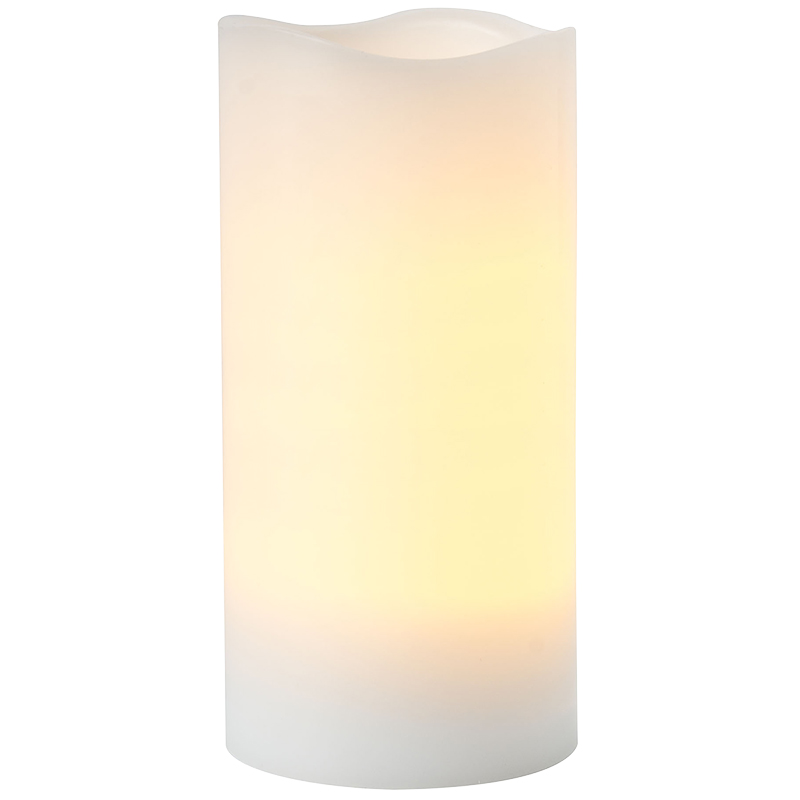 Melted Top Flameless Pillar Candle - Unscented - White - 3 x 4inch