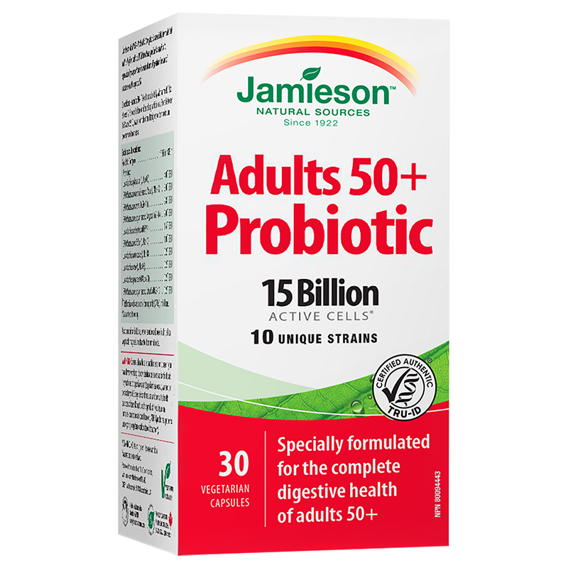 Jamieson Adult 50+ Probiotic Complex - 15 Billion Active Cells - 30's