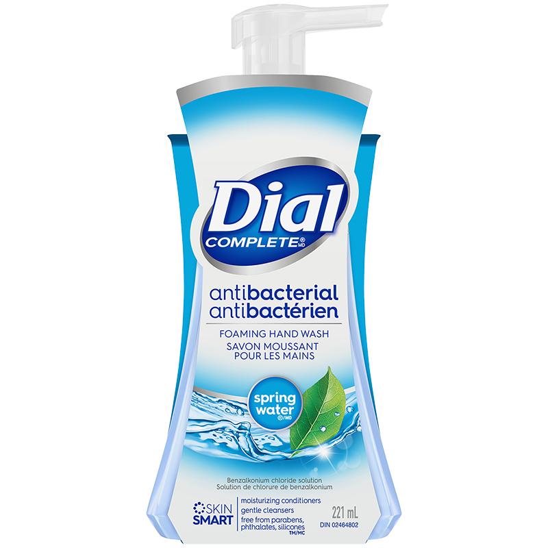 Dial Complete Antibacterial Foaming Hand Wash - Spring Water - 221ml