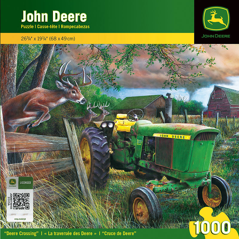 John Deere Deer Crossing Puzzle - 1000 pieces