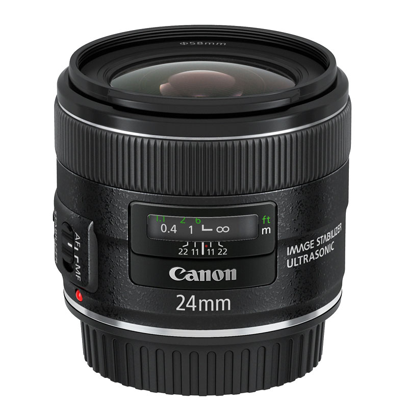 Canon EF 24mm F2.8 IS USM Lens - Black - 5345B002