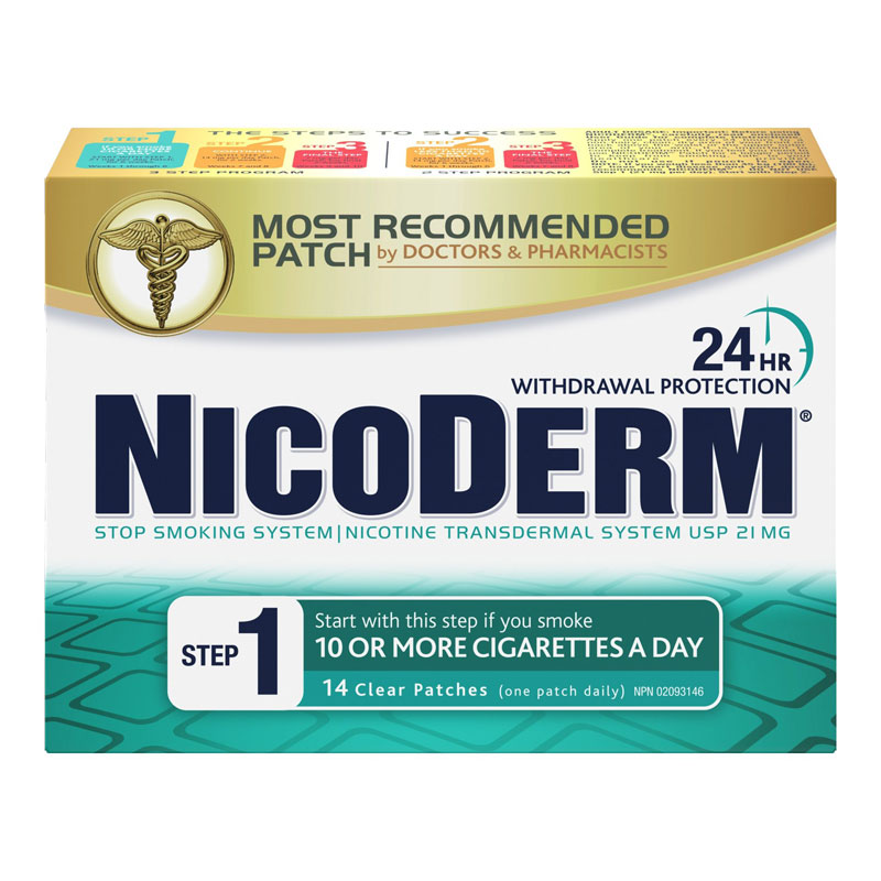 Nicoderm Stop Smoking System STEP 1 - 21mg - 14 clear patches