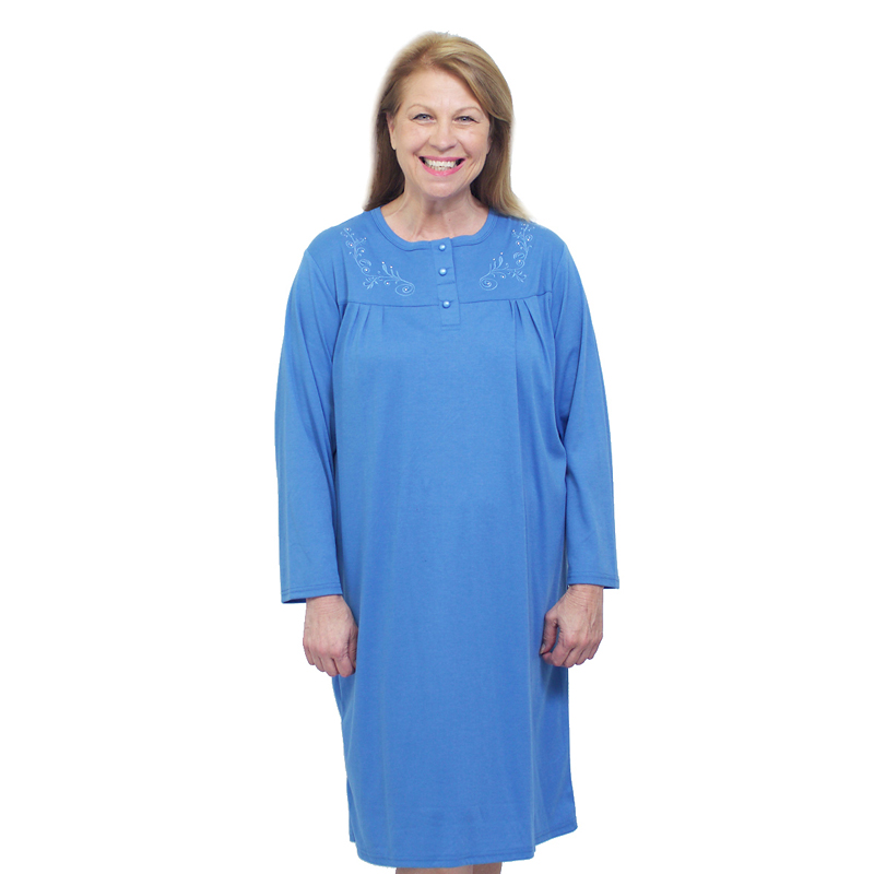 Silvert's Women's Embossed Open-Back Nightgown - 2XL - 3XL