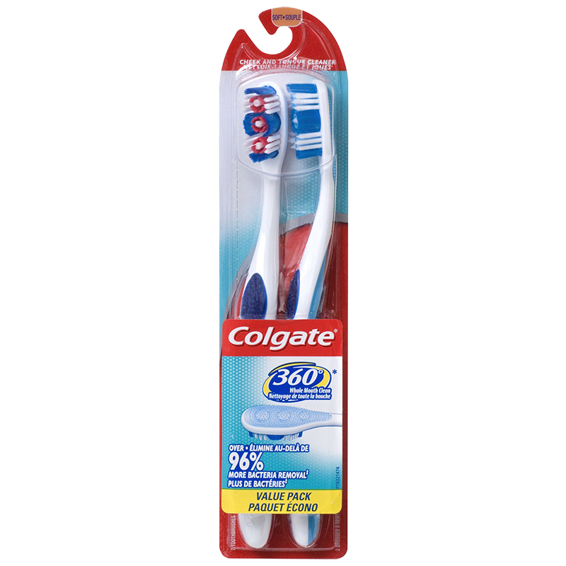 Colgate 360° Toothbrush - Twin Pack
