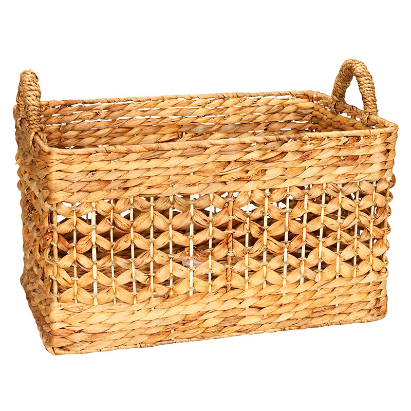 London Drugs Water Hyacinth Rectangle Mesh Basket