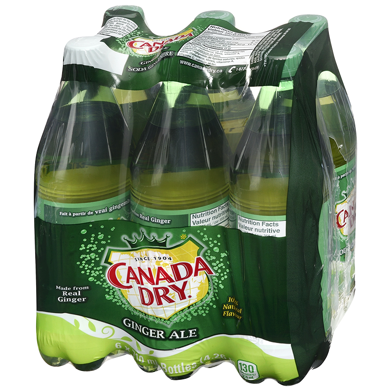 Canada Dry Ginger Ale - 6 x 710ml