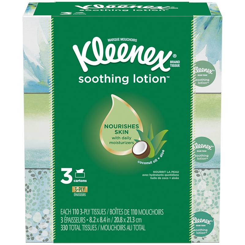 Kleenex Soothing Lotion - 3 x 110's