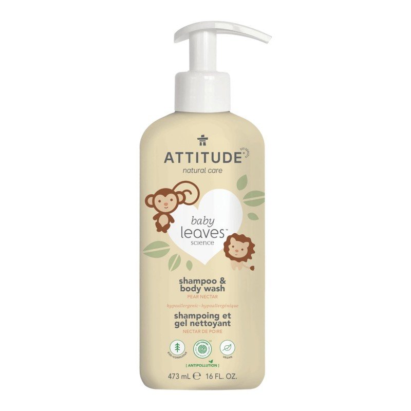 Attitude Baby Leaves 2-in-1 Natural Shampoo And Body Wash - Pear Nectar - 473ml