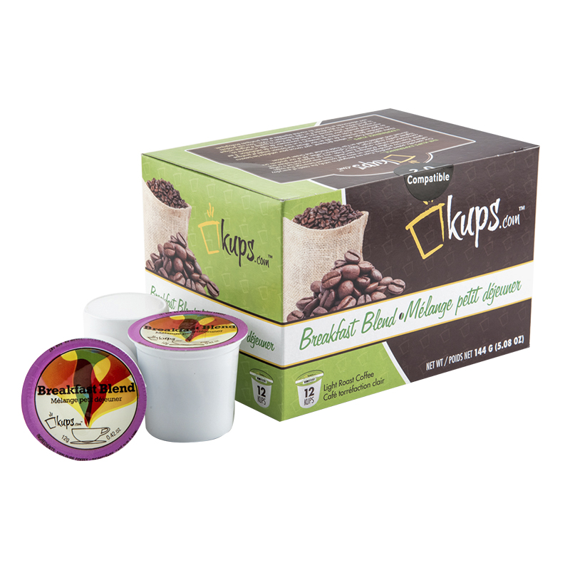 K-Cup Kups Coffee - Breakfast Blend - 12's