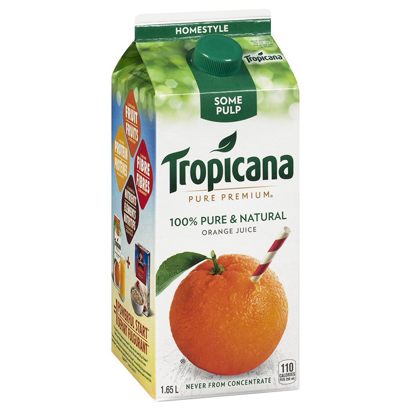 Tropicana Pure Premium Homestyle Orange Juice - 1.65L