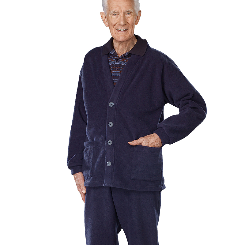 Silvert's Men's Polar Fleece Cardigan - 2XL - 3XL