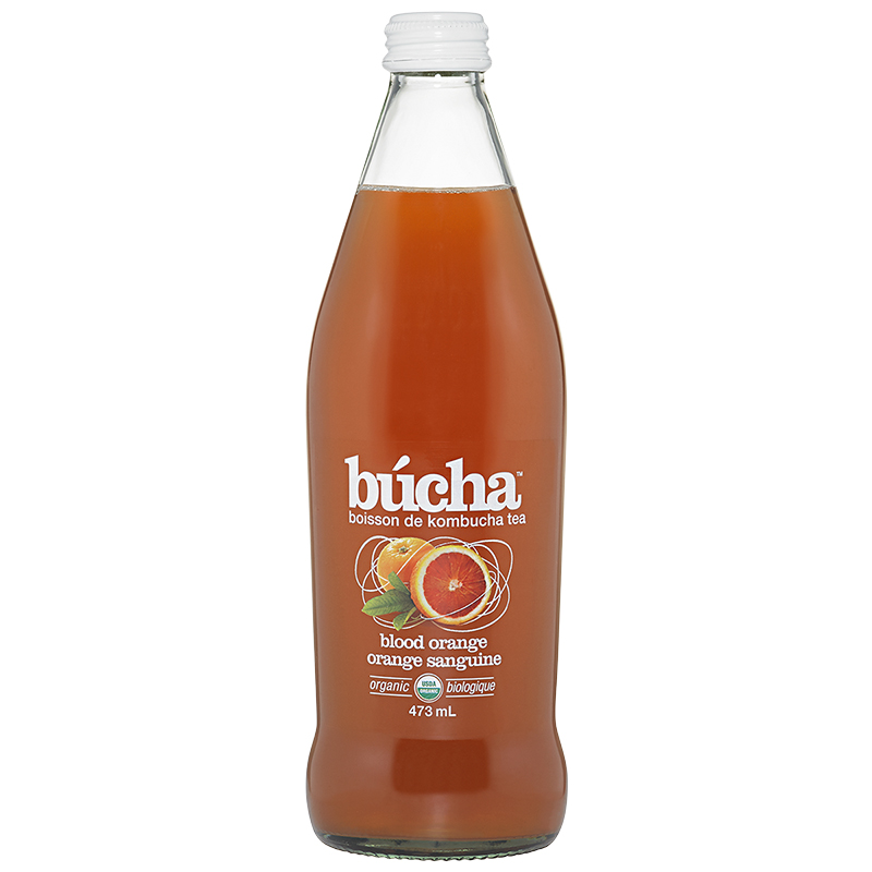 Bucha Kombucha Tea - Blood Orange - 473ml