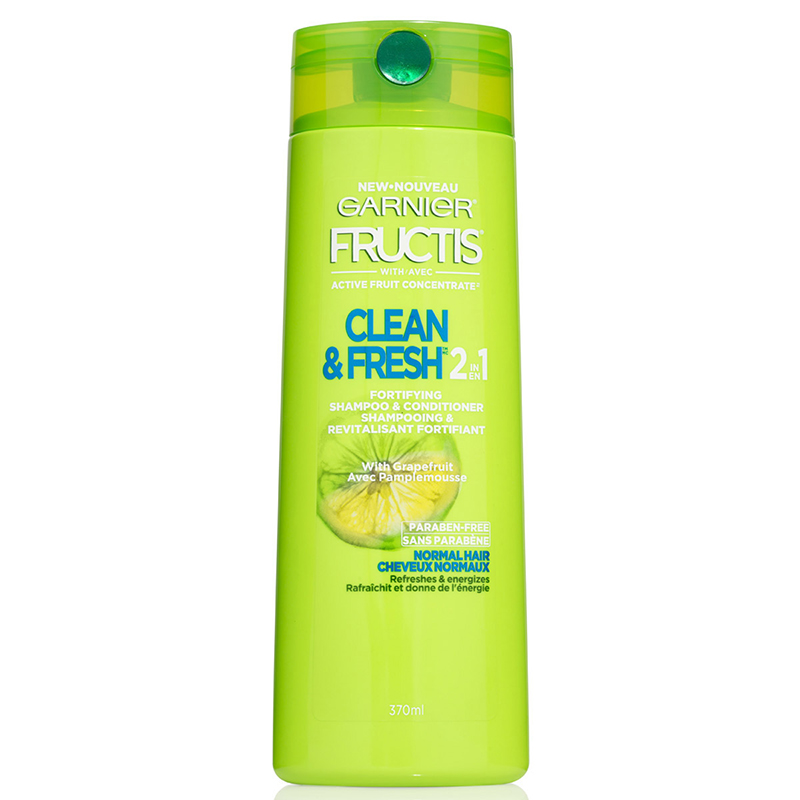 Garnier Fructis Clean & Fresh 2in1 Shampoo & Conditioner - 370ml
