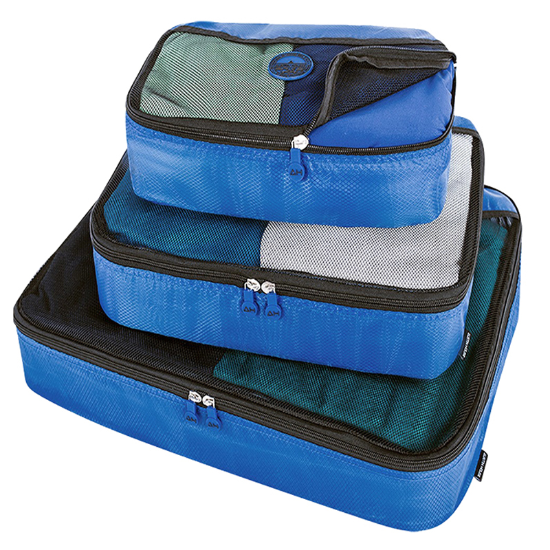 Austin House Packing Cubes - Blue - 3 Pack