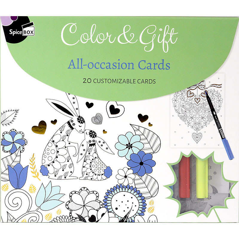 Spicebox Colour & Gift - All-Occasion Cards - 20 piece
