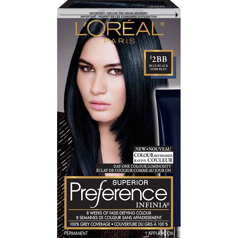 L'Oreal Superior Preference Infinia Fade-Defying Hair Colour - I2BB Blue Black