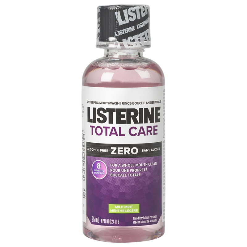 Listerine Total Care Zero Antiseptic Mouthwash - Mild Mint - 95ml