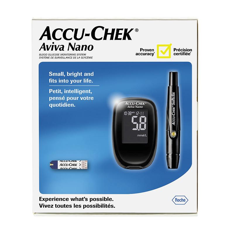 accu chek aviva nano blood glucose meter system 21253 london drugs