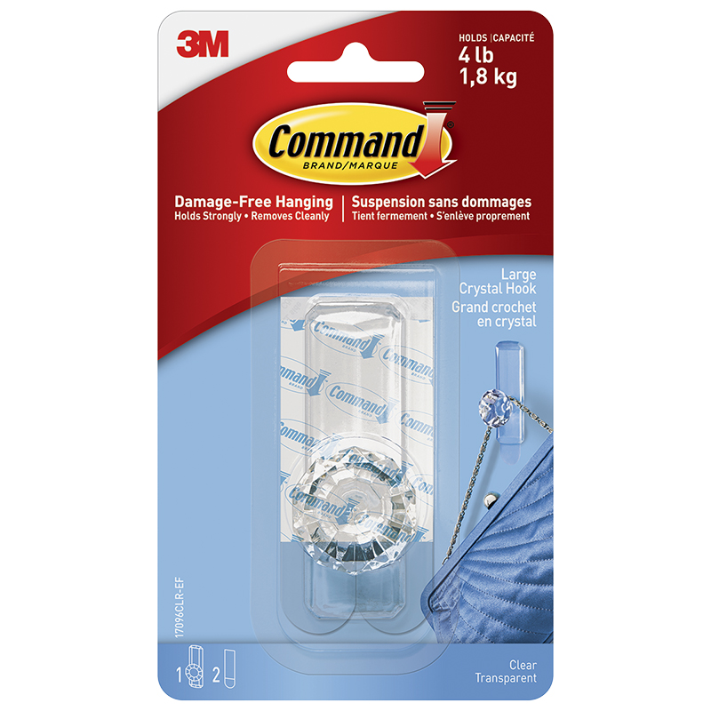 Command™ Large Crystal Hook - Single