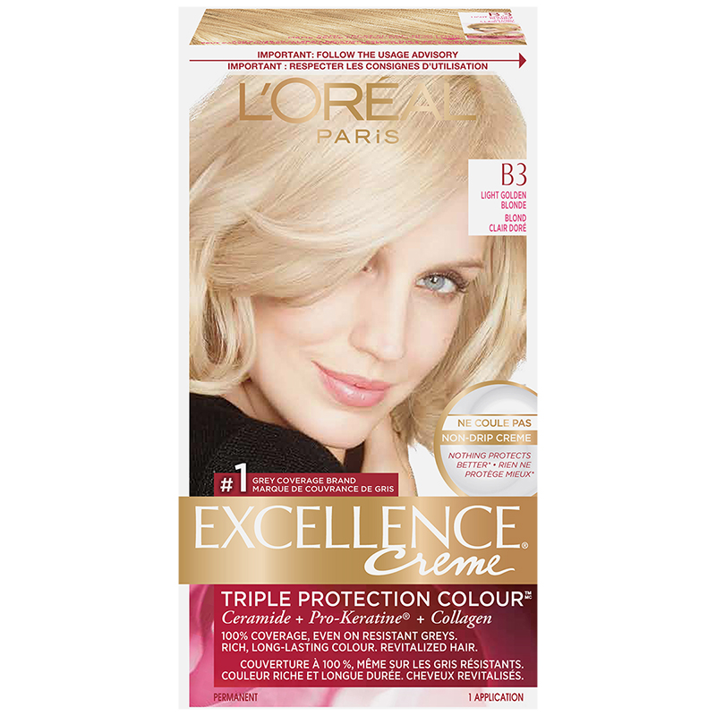 Lu0027Oreal Excellence Creme   B3 Light Golden Blonde
