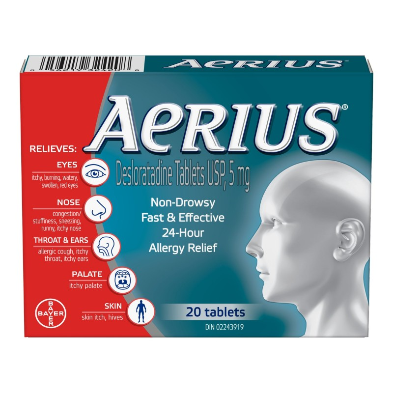 Aerius Allergy 5mg - 20's