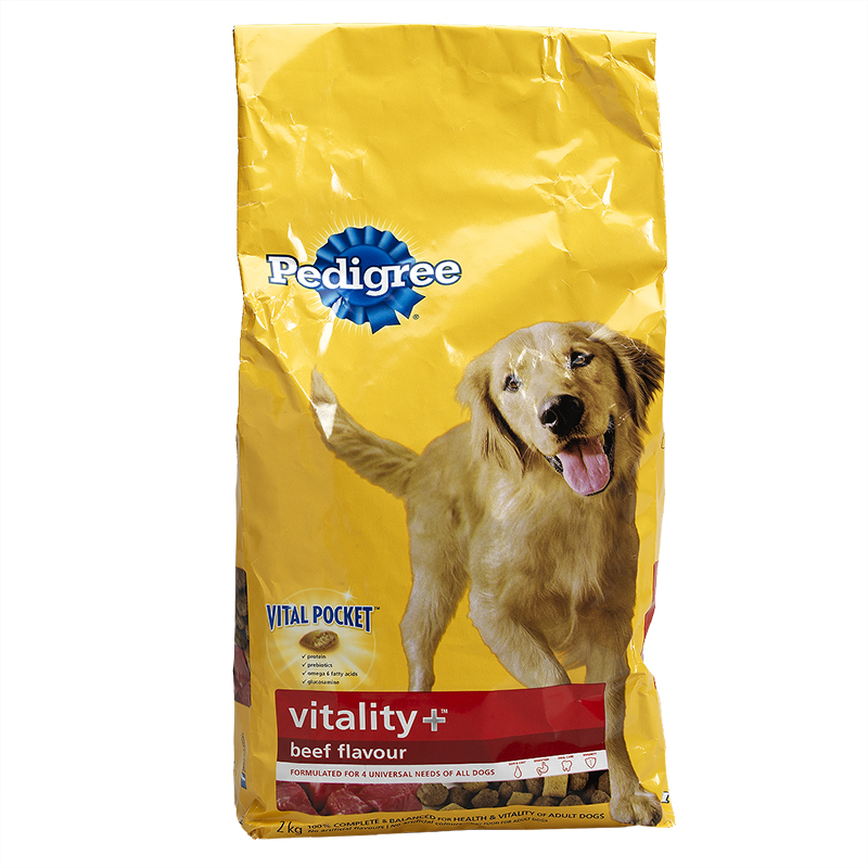 Pedigree Vitality+ Dry Dog Food - Beef - 2kg