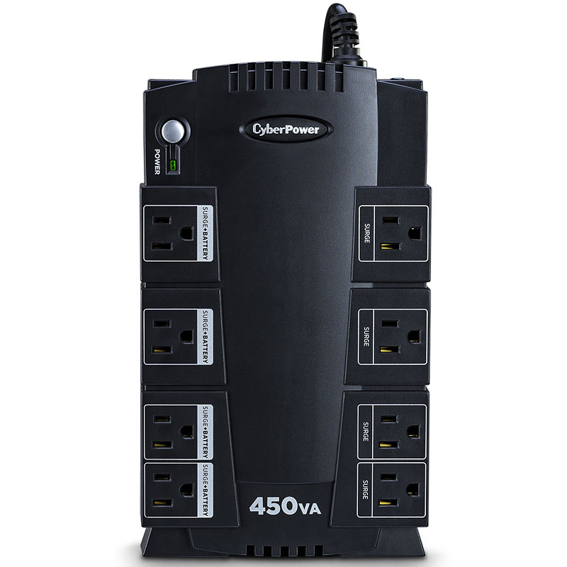 CyberPower 450VA UPS AVR 8-Outlet - Black - SE450G