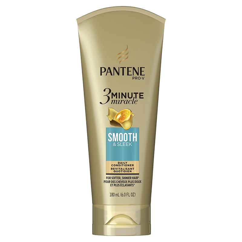Pantene Pro-V 3 Minute Miracle Daily Conditioner - Smooth & Sleek - 180ml