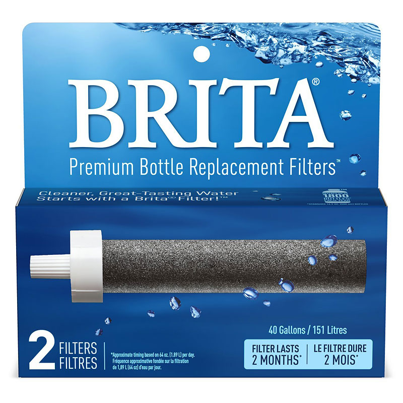 Brita Hard Sided Water Bottle Replacement Filters - 2 pack