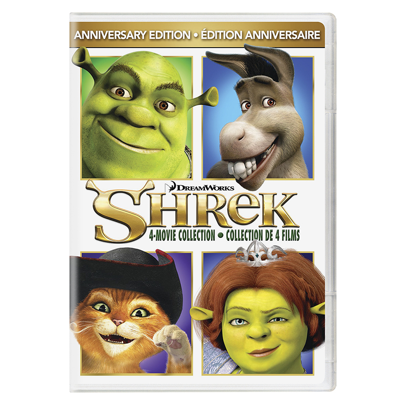 Shrek 4 Movie Collection (Anniversary Edition) - DVD