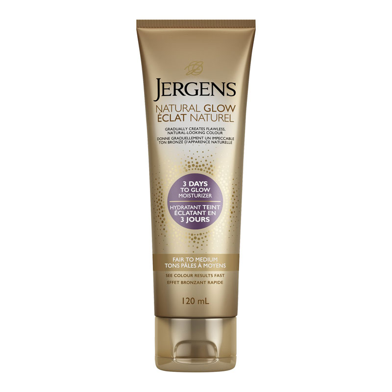 Jergens Natural Glow 3 Days to Glow Moisturizer - Fair to Medium - 120ml