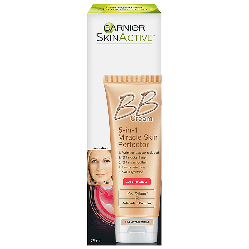 Garnier Skin Renew BB cream Miracle Skin Perfector Anti-Aging - Light/Medium - 75ml