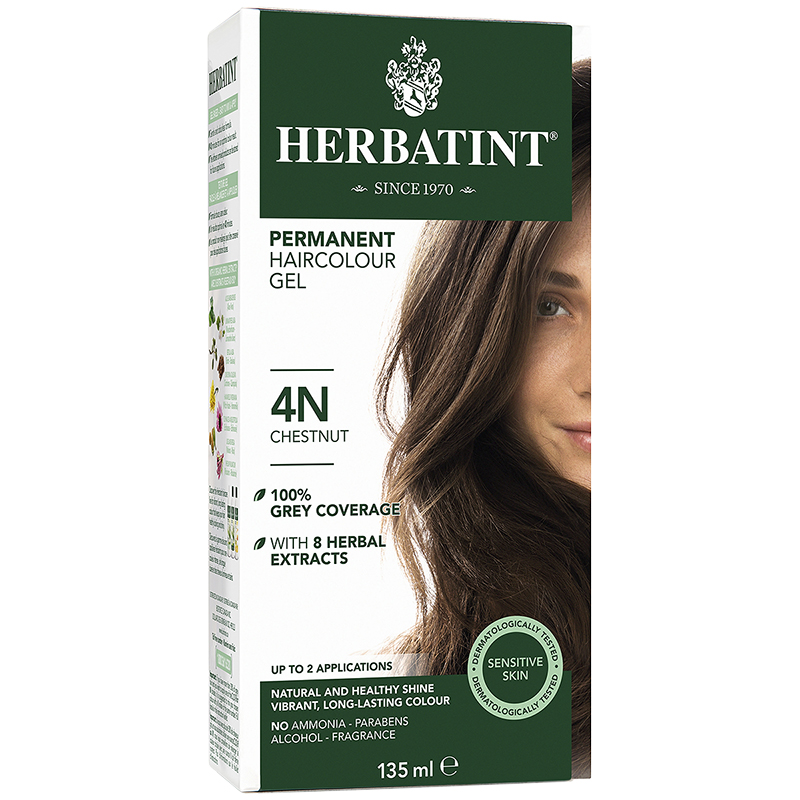 Herbatint Permanent Herbal Haircolour Gel - 4N Chestnut