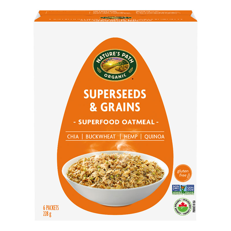 Nature Path Qi'A Gluten Free Oatmeal - Superseed & Grain - 6 Packets