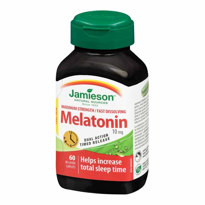 Jamieson Melatonin 10 mg Fast Dissolving Timed Release Tablets - 60's
